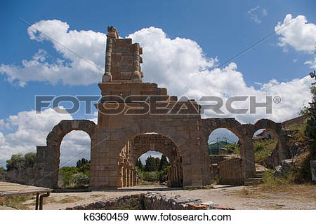 Stock Photograph of Archaeological ruins, Tindari, Sicily k6360459.
