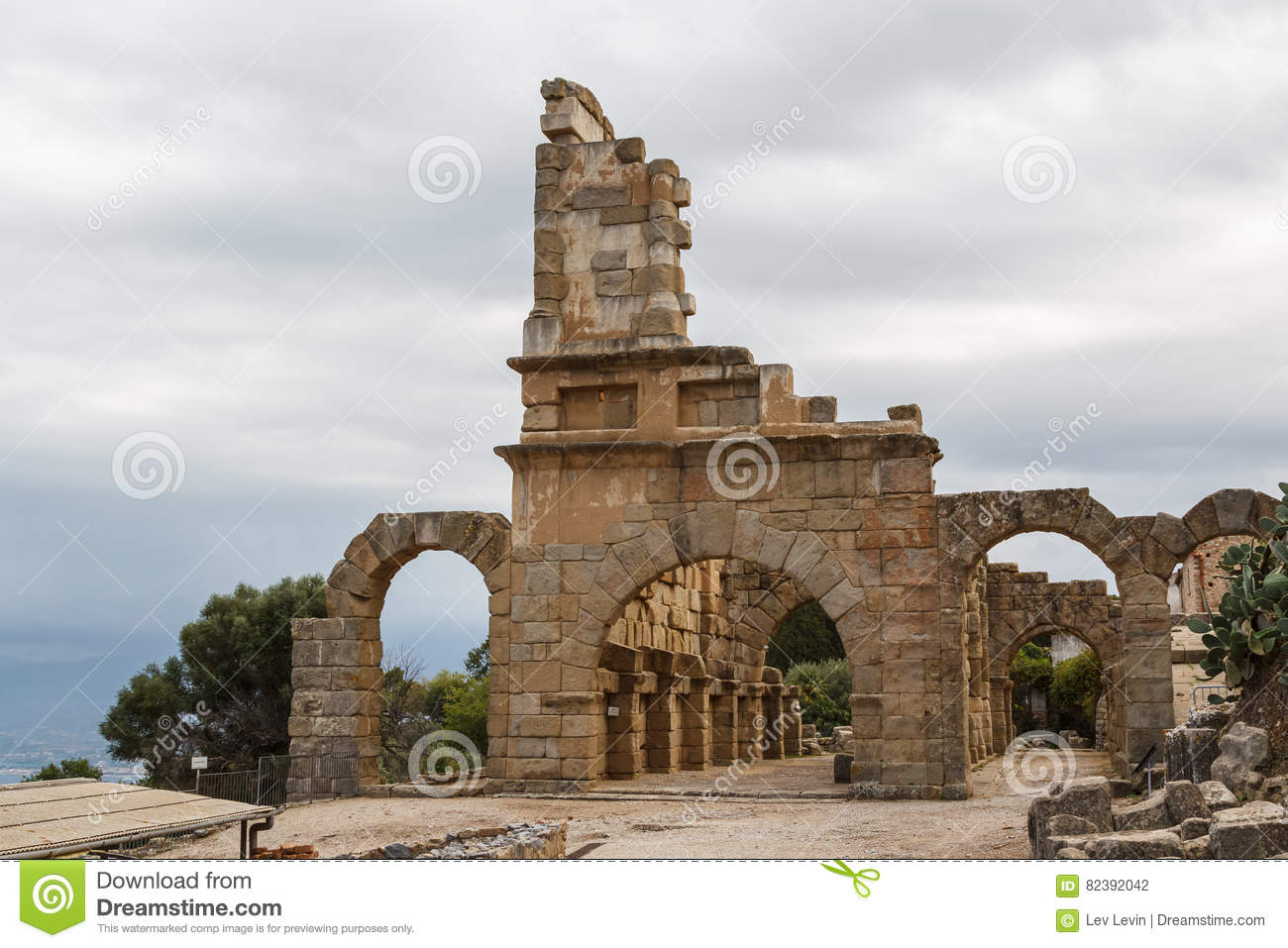 Ruins Of The Ancient City Of Tindari & X28;Tindarys& X29; Stock.