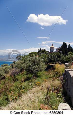 Stock Photo of Shrine of Our Lady of Tindari, Sicily, Italy.