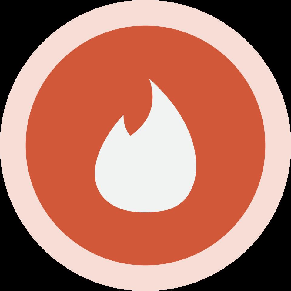 Circled Tinder Logo PNG Image.