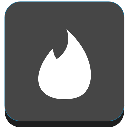 Fire, network, social, tinder icon.