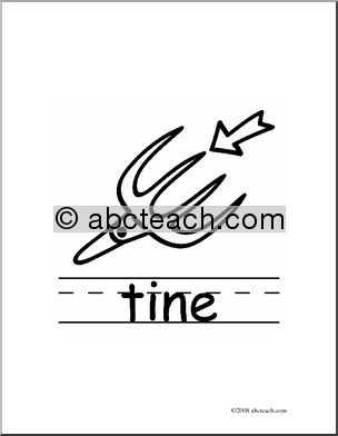 Clip Art: Basic Words: Tine B/W (poster).
