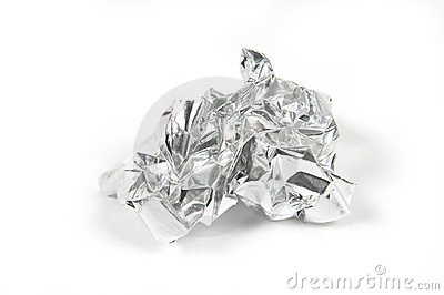 Crushed Tinfoil Royalty Free Stock Images.