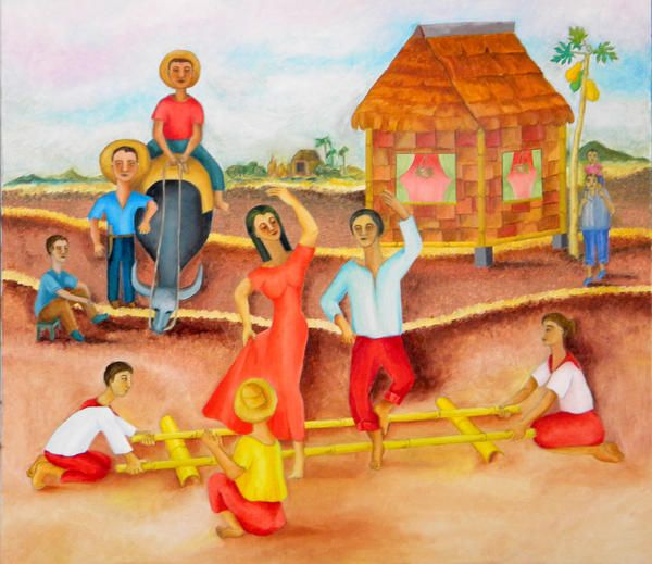 Strike the Bamboo Posts and Let\'s Dance The Tinikling.