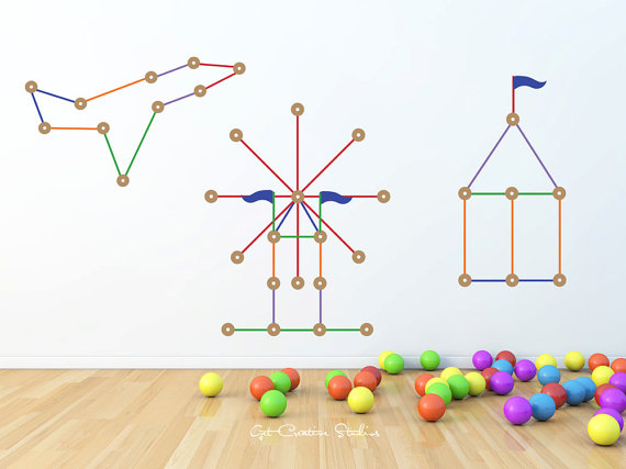 Tinker Toy Decal Sticks Sticker Erection Set Build Tinker Play.