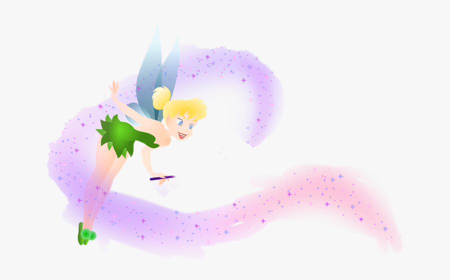 Tinkerbell With Pixie Dust , Free Transparent Clipart.