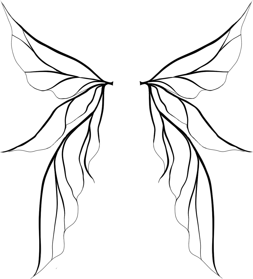 Tinkerbell Wings Drawing.