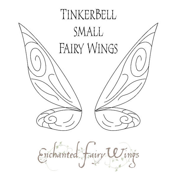 PATTERN and tutorial for fairy wings Tinker Bell small.