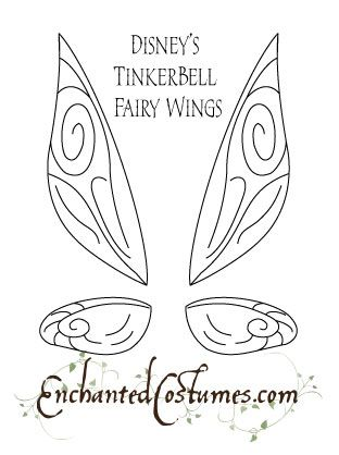 Tinkerbell Fairy Wings Template.