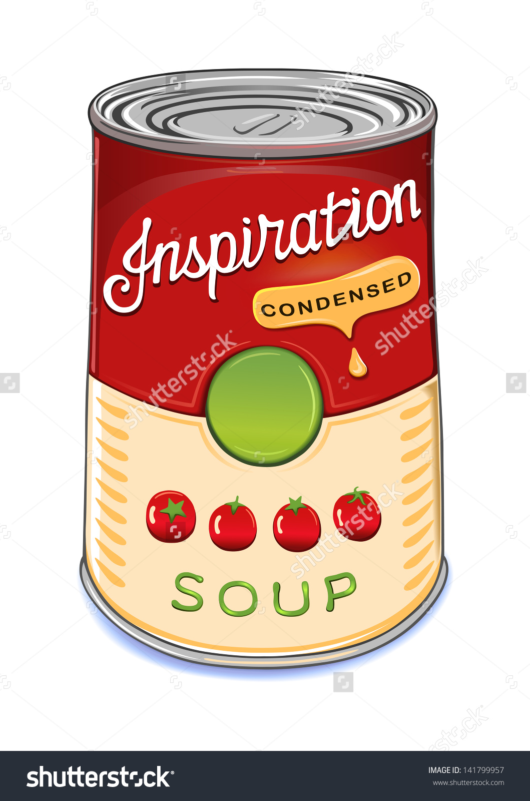 Canned soup clipart.