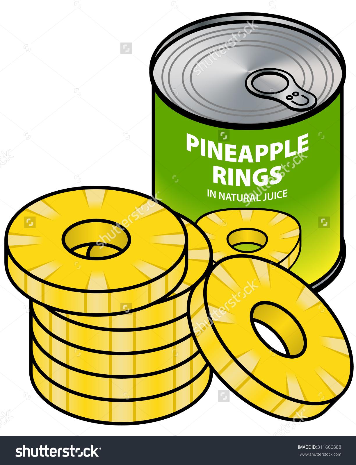 Tinned Pineapple Rings Stock Vector 311666888.