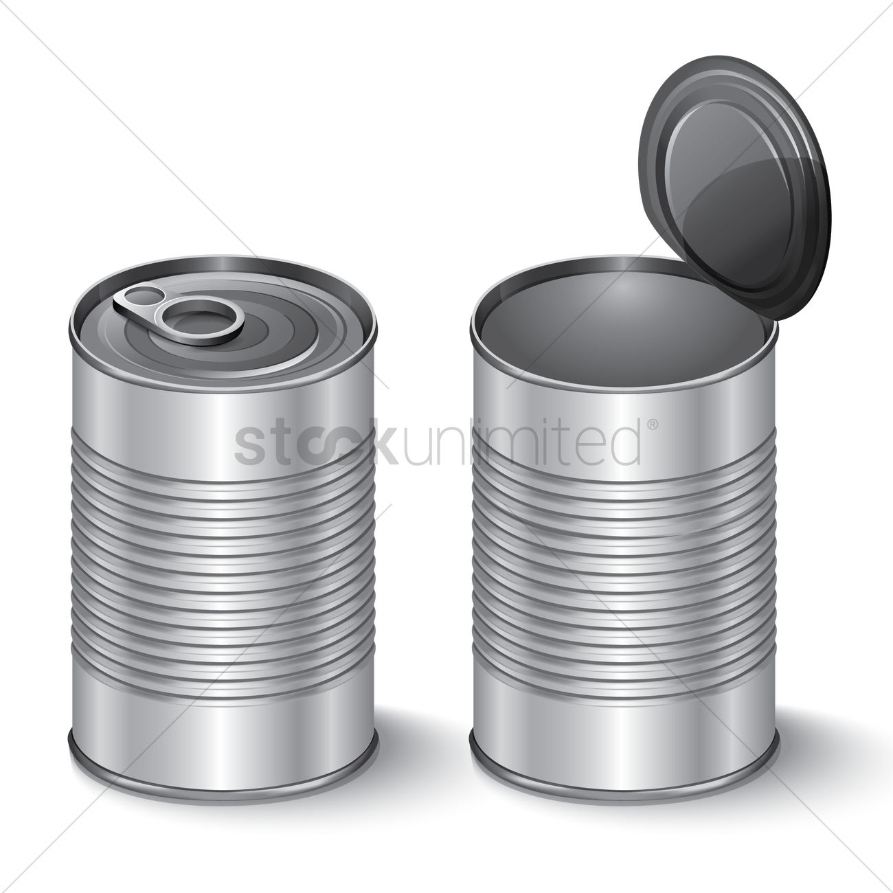 Tin cans Vector Image.