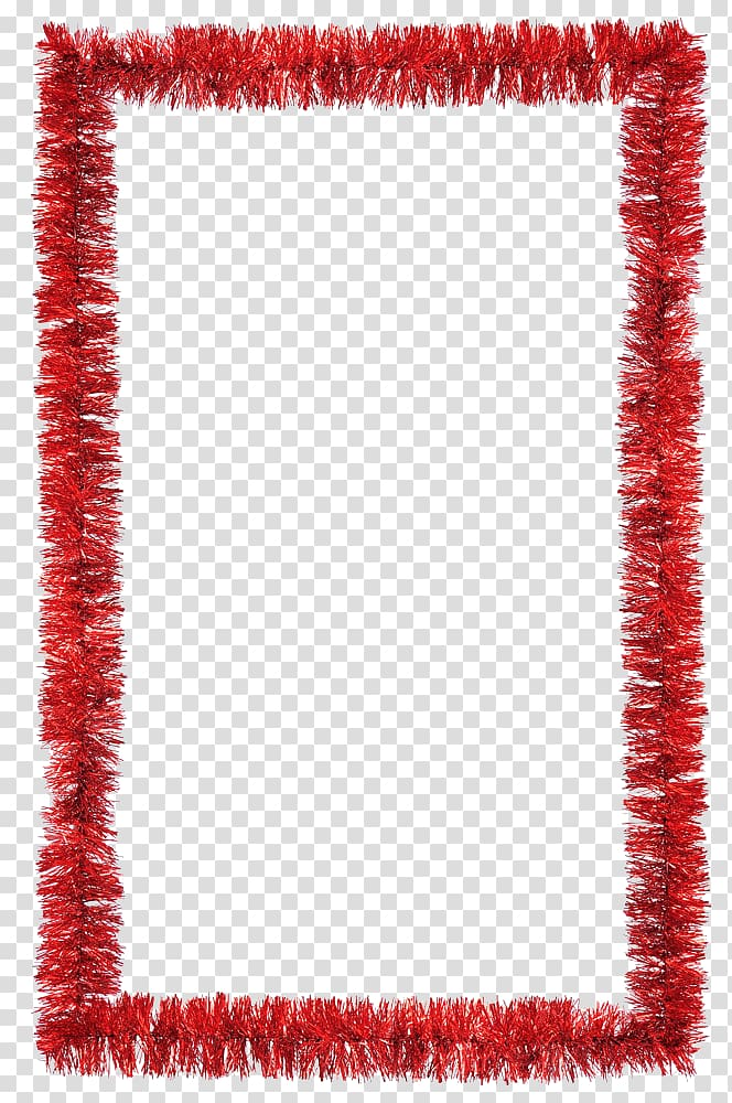 Christmas decoration Tinsel , Christmas Border transparent.