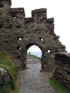 Tintagel Castle, Cornwall, England.