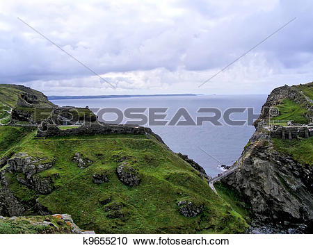 Stock Photography of Castle Tintagel k9655210.