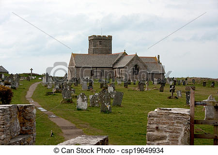 Stock Photos of St Materiana Church, Tintagel Parish Church.