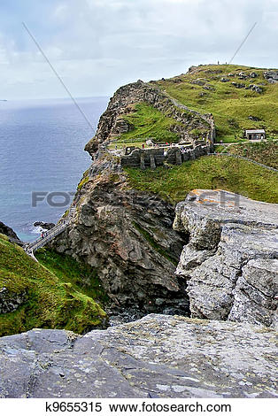 Stock Image of Castle Tintagel k9655315.
