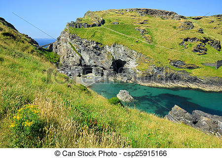Stock Image of Merlin's Cave.