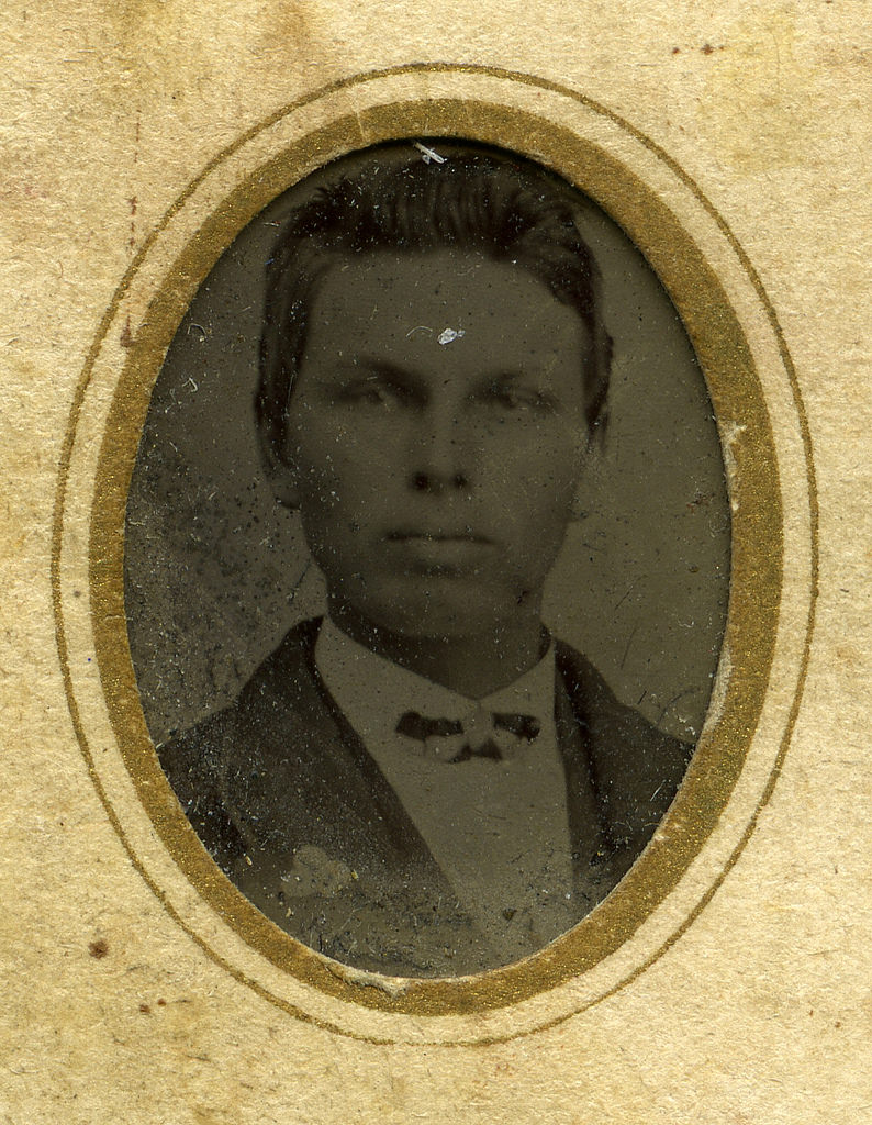 Gen size tintype ferrotype mounted on CDV size card.