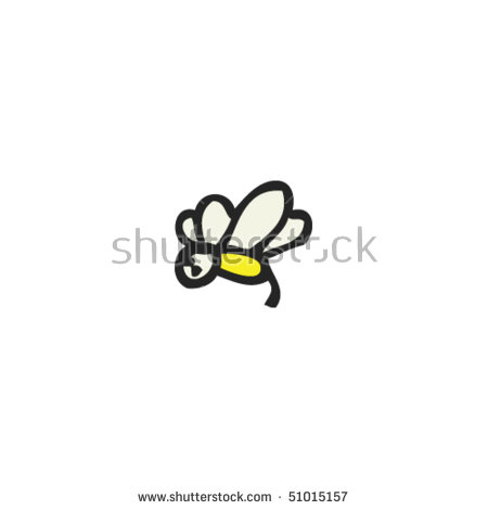Quirky Drawing Tiny Bee Stock Vector 51015157.