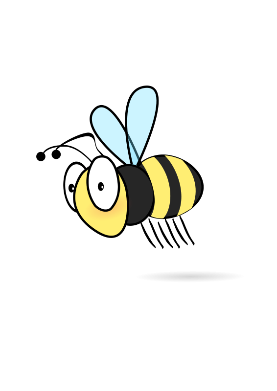 Showing post & media for Cartoon bee transparent background.