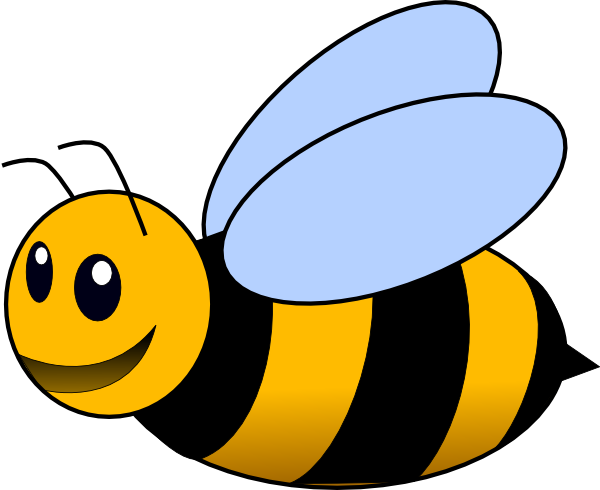 Clipart Tiny Bee Transparent Background.
