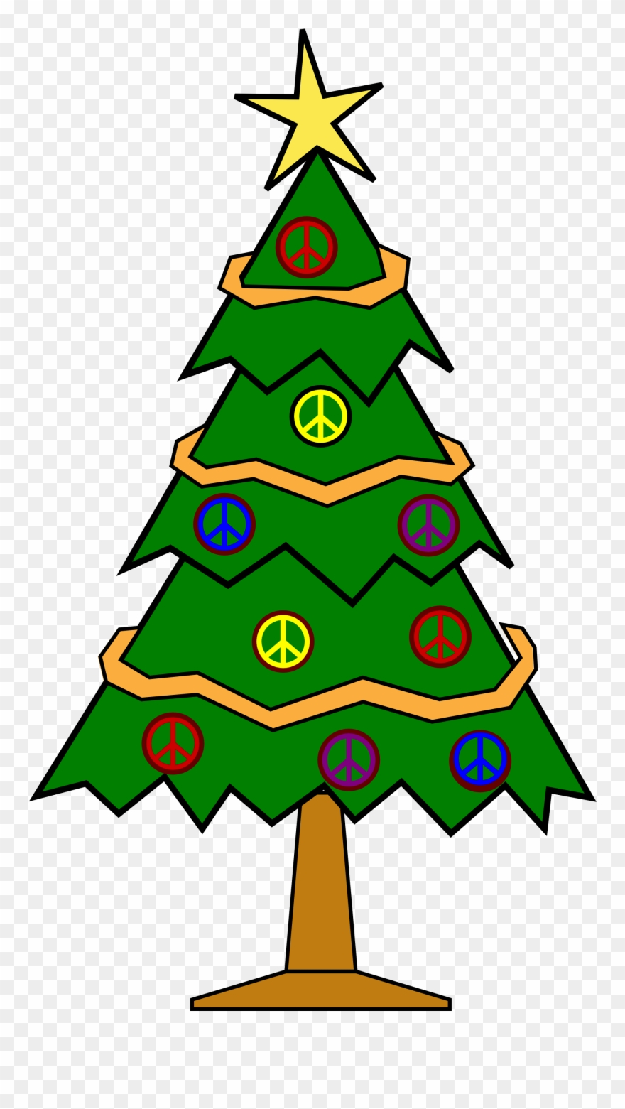 Clipart Transparent Stock Christmas Tree And Presents.