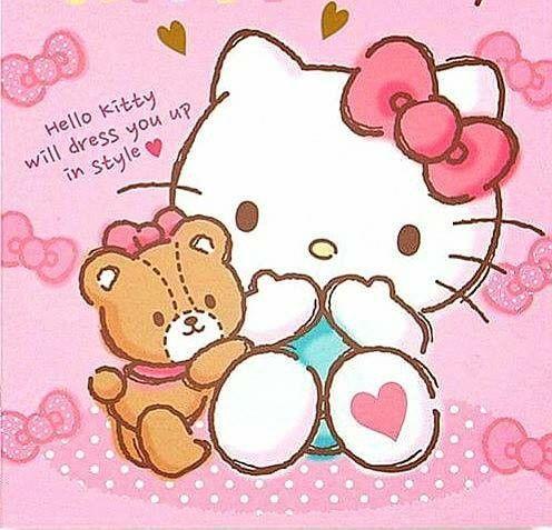 Hello Kitty et Tiny Chum.