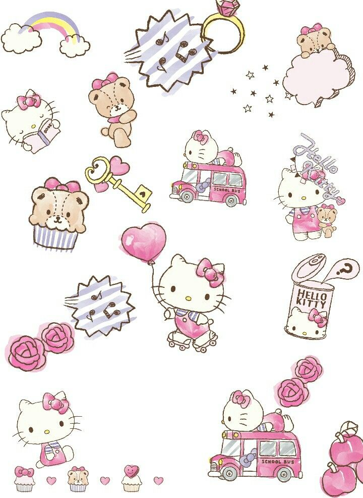 Hello Kitty et Tiny Chum.