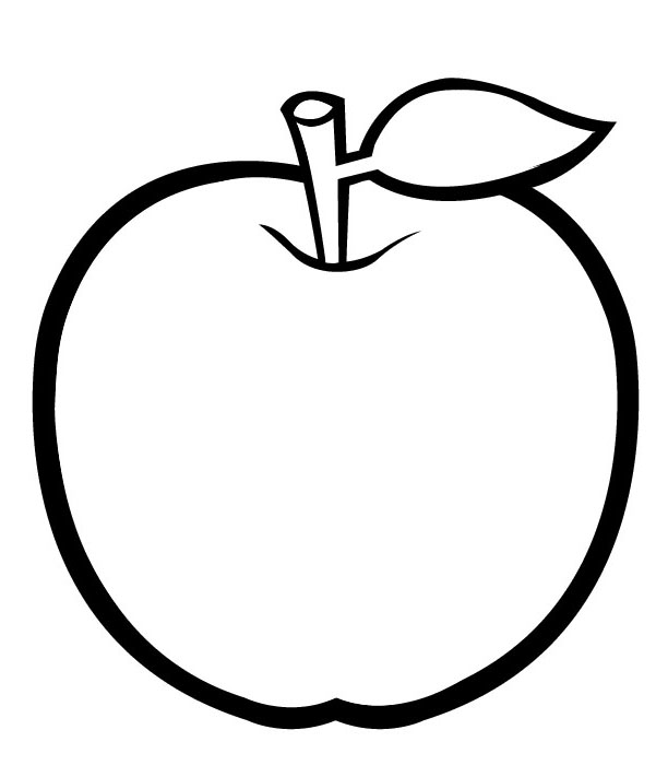 Golden Apple Coloring Pages Kids.