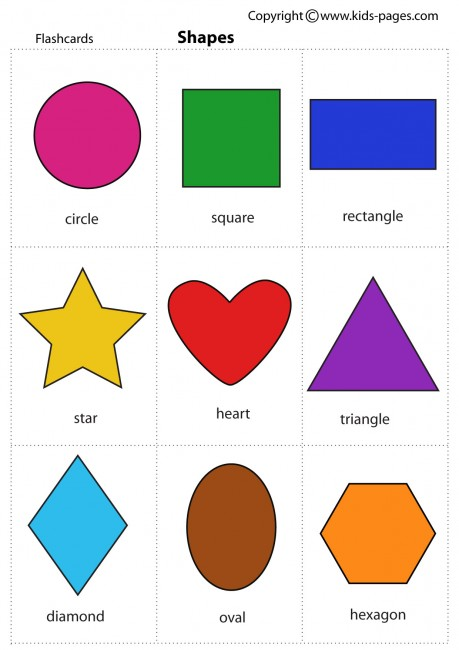 Printable Shapes and Colors.