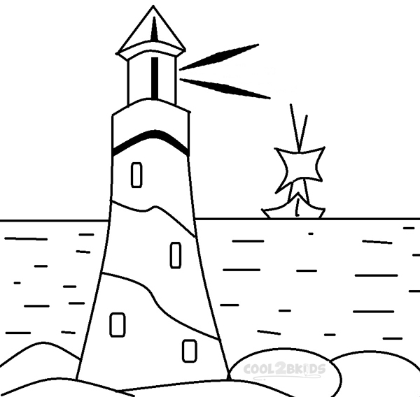 Printable Lighthouse Coloring Pages For Kids.