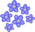 Tiny flowers clip art.