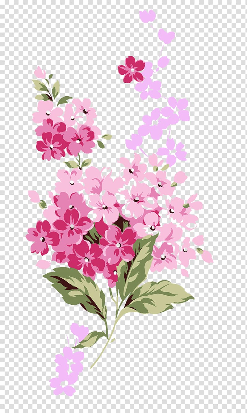 Pink and red flowers illustration, Flower Rose, Small pink.