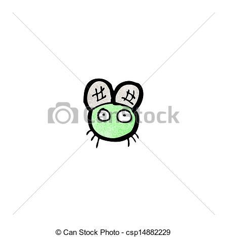 Clip Art Vector of cartoon tiny fly csp15573863.