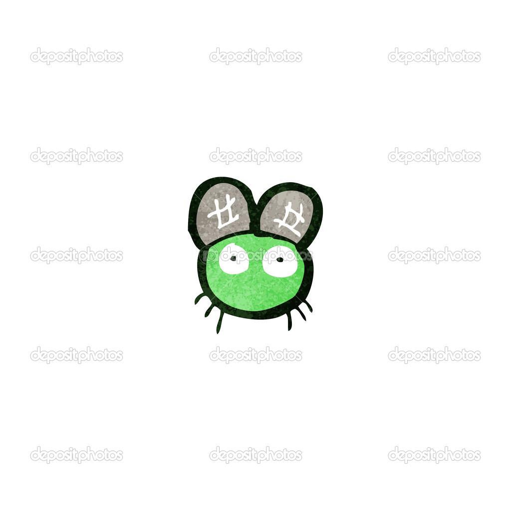 Retro cartoon tiny fly — Stock Vector © lineartestpilot #29161701.