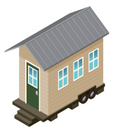 Tiny House On Wheels Clipart.