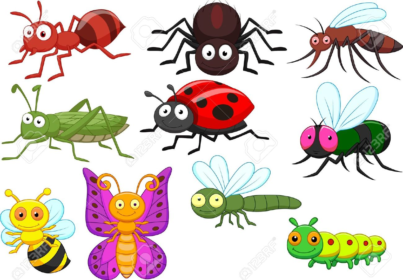 Tiny Insects Clip Art.