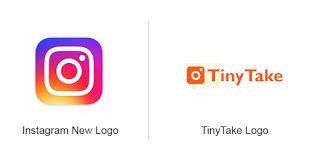 Instagram logo is very similar to TinyTake logo.: This is.