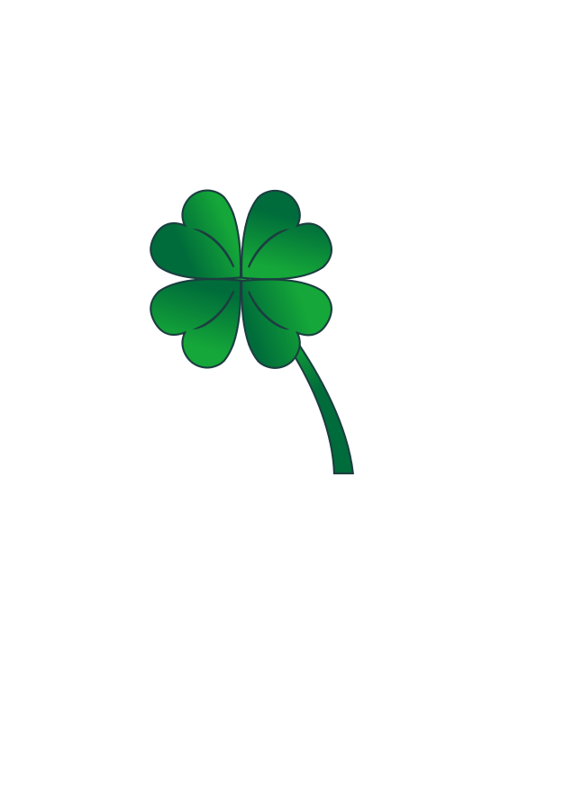 Four leaf clover tree clipart tiny.