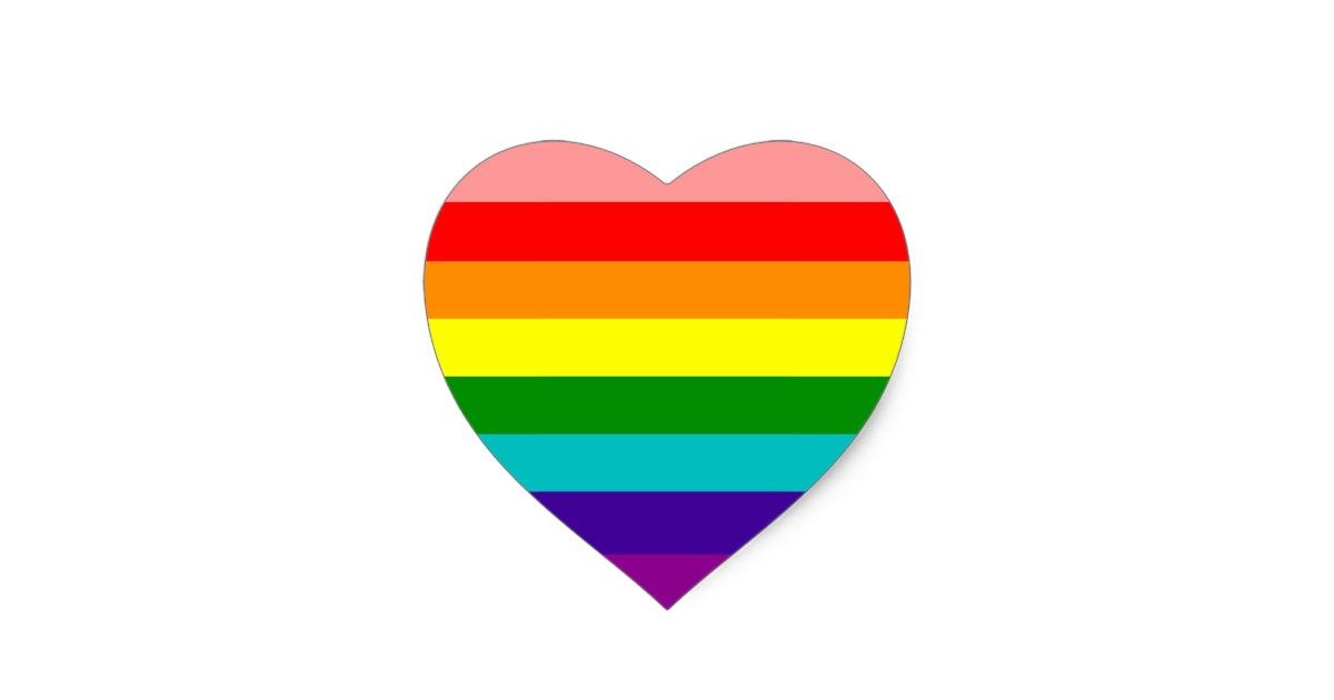 Gay Flag Heart.
