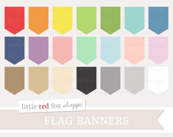 Tiny Banner Flag Clipart.