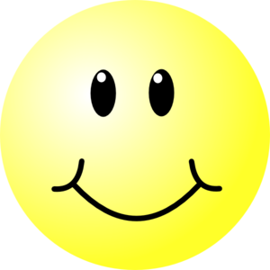 Small smiley face clip art.