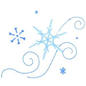 Small Snowflake Clipart.