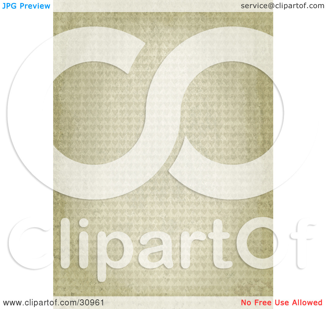 Clipart Illustration of a Beige Stone Textured Background With A.
