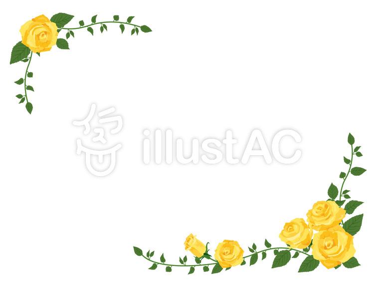 Yellow Rose diagonal frame · Border frame 01.