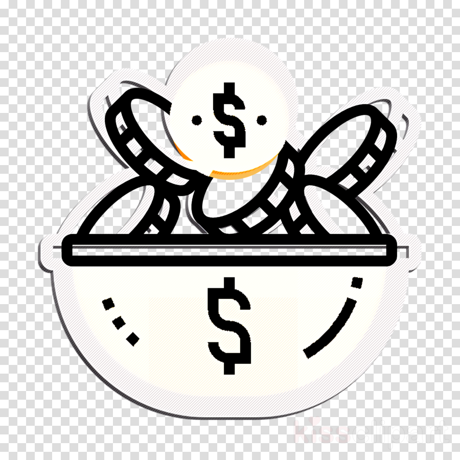 Coin icon Investment icon Tip icon clipart.