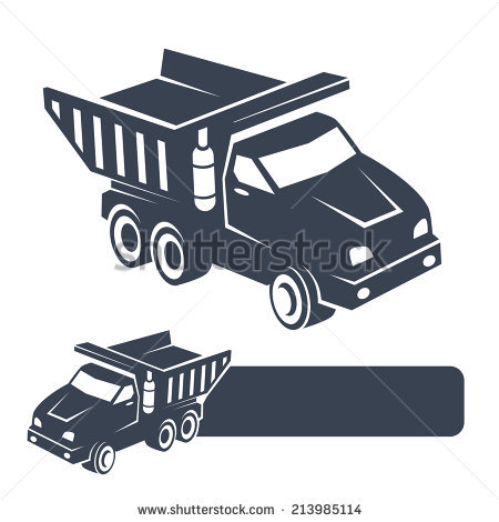 Tip Truck Stock Vector Illustration 213985114 : Shutterstock.