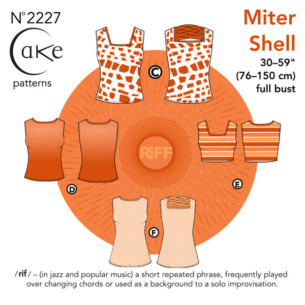 Digital Miter Shell Sewing Pattern.