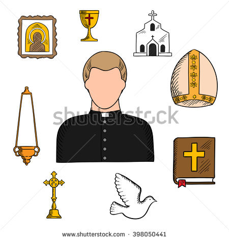 Pope Mitre Stock Images, Royalty.